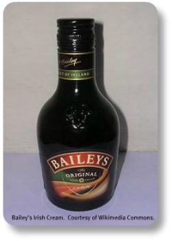 Bailey's Irish Cream.  Image from Wiikimedia Commons