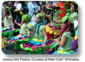 Galway arts festival.  Image by Peter Clark.  Wikimedia Commons