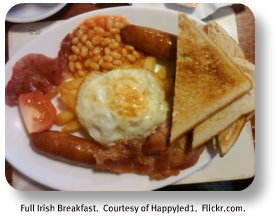 Irish food recipes.  Full Irish breakfaster.  Image by Happyjed1.  Flickr.com