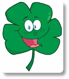 Irish limericks.  Laughing shamrock.