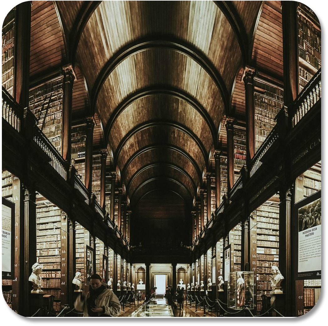 Irish Expressions - Trinity College, Old Library. Photocredit: Cambiofractal via Flickr.