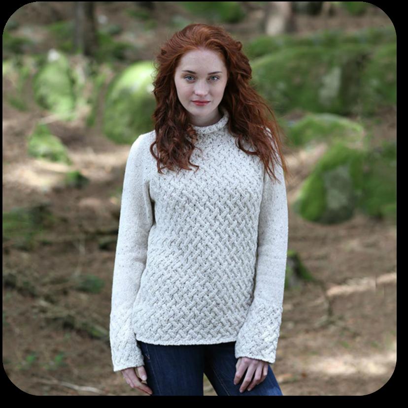 Merino Aran Sweater from The Irish Store