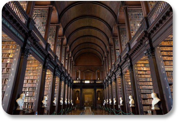 Book of Kells - The Long Room in Trinity College