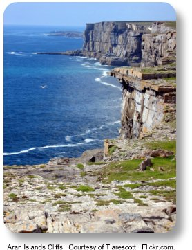 Aran Island Cliffs.  Courtesy of Tiarescott.  Flickr.com
