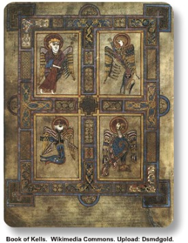The Book of Kells in Ireland. Courtesy of Wikimedia Commons