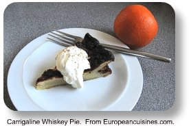 Carrigaline whiskey pie.  From Europeancuisines.com