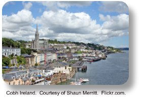 Cobh Ireland.  Courtesy of Shaun Merritt. Flickr.com