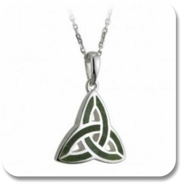 Connemara Marble Jewelry - Triquetra Pendant from The Irish Store