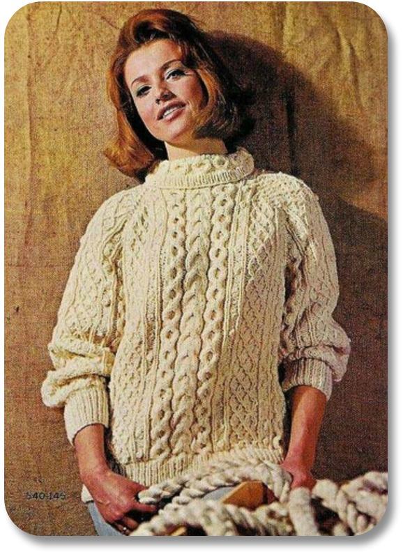 Irish Wool Sweaters - Aran sweaters on movie stars.  Photocredit:  The Skinny Stiletto.
