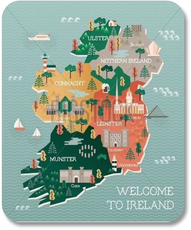 Map Of Ireland Leinster.Detailed Maps Of Ireland A Bird S Eye View Of The Emerald Isle
