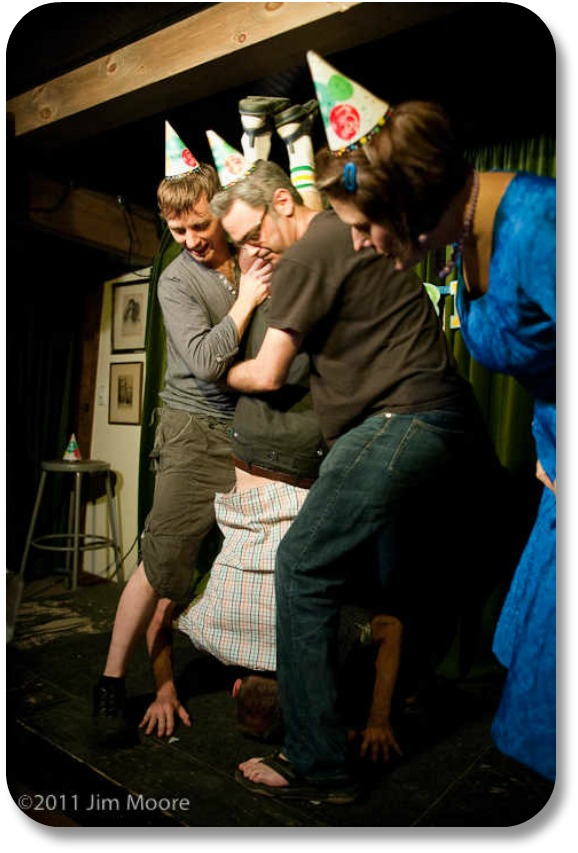 Irish Birthday Traditions - the 'birthday bump.' Photocredit:  Jim Moore.