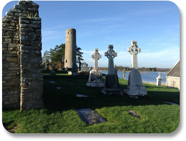 Irish Cross - Clonmacnoise Monestary Bay Side