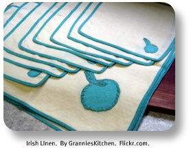 Irish linen.  By GranniesKitchen. Flickr.com.