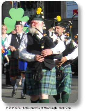 Irish pipes.  Image courtesy of Mike Cogh.  Flickr.com