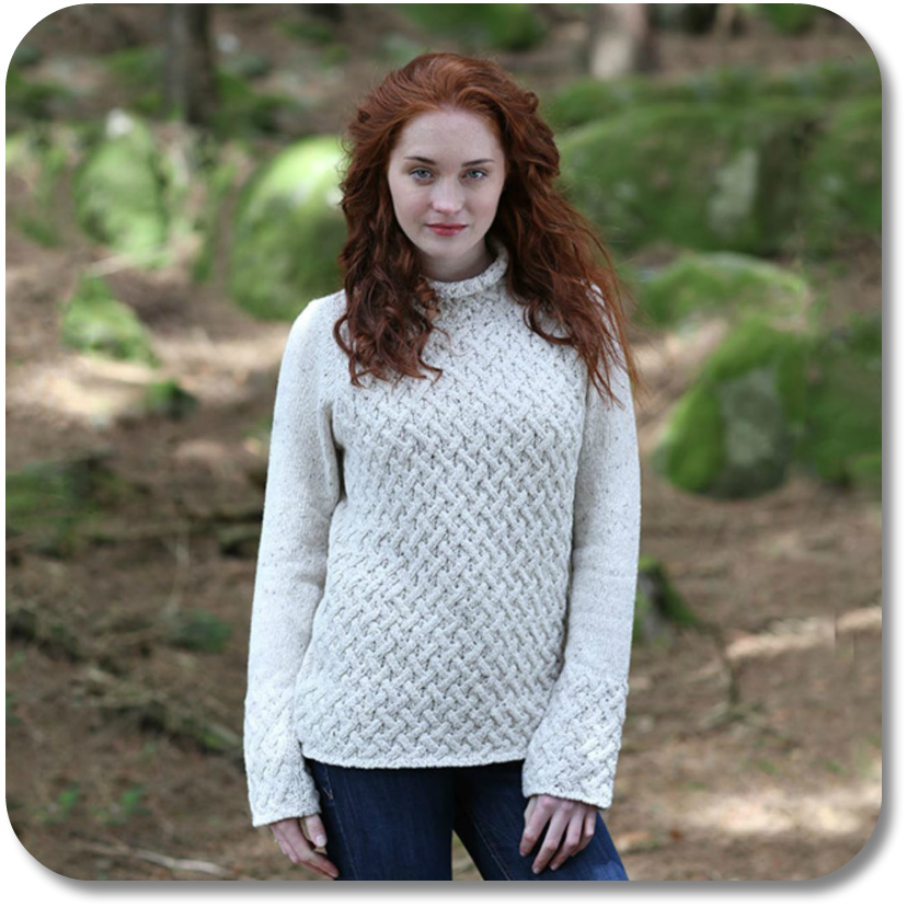 Merino Aran Sweater from The Irish Store