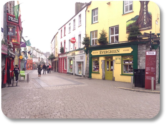 Ireland Travel Destinations - Pedestrian Street in Galway
