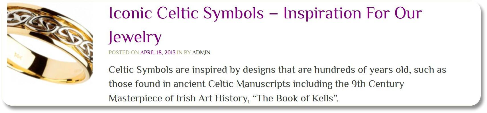 Celtic Symbols - Shanora Irish Handcrafted Jewelry