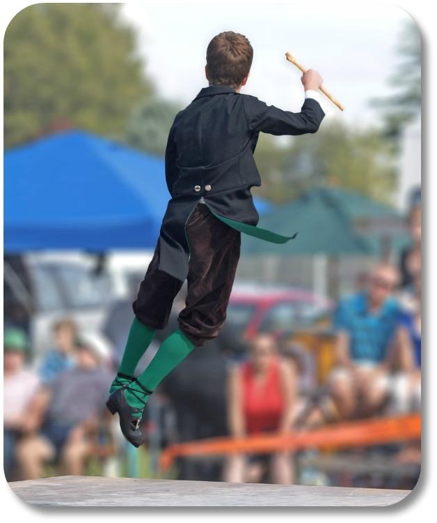 Irish Dancing - Irish Male Dancer in Mid-Air
