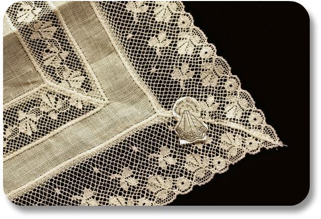 Irish Linen Fabric - Detailed Lace