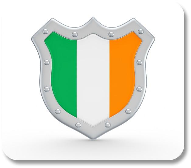 Irish Family Crests - Tricolor Crest.