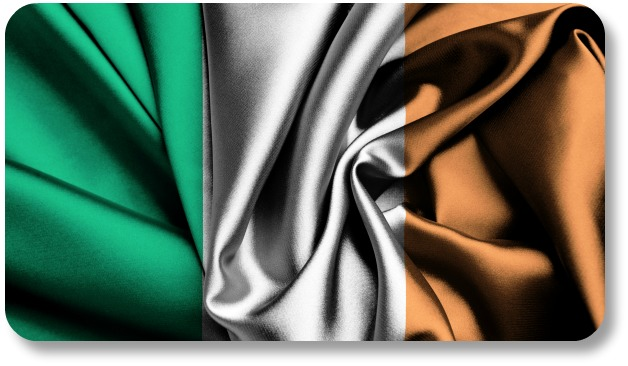 Irish Expressions - Silken Tricolor Flag