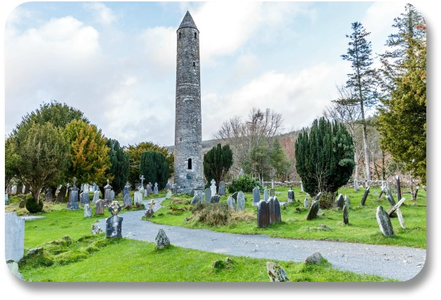 Ireland Travel Destinations - Glendalough Round Tower