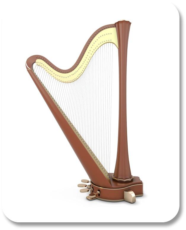 Irish harp symbol