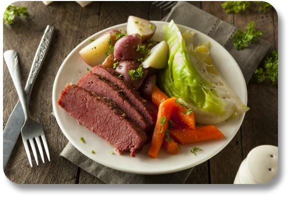 Irish Food Recipes - Corned Beef and Cabbage