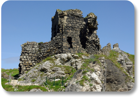 Irish Expressions - Kinbane Castle Ruins.