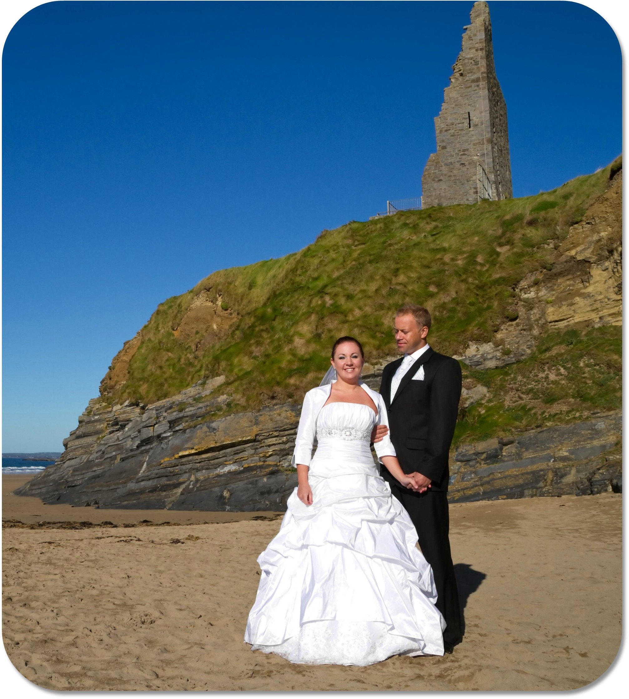 Irish Wedding Traditions - Bride and Groom on the Beach.