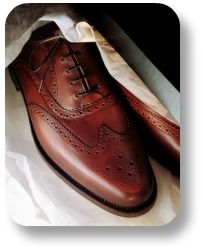 Brogue shoes.  The modern look.