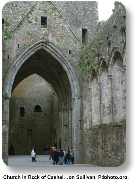 Church in Rock of Cashel.  Jon Sullivan.  Pdphoto.com.
