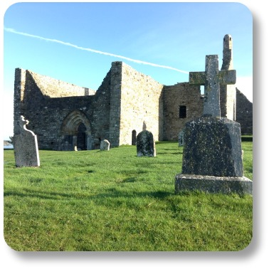Ireland Facts - Clonmacnoise Cathedral.