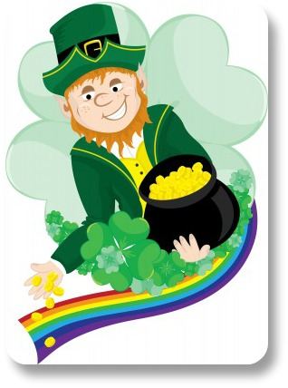 Funny Irish Jokes.  Leprechan with a pot of gold!