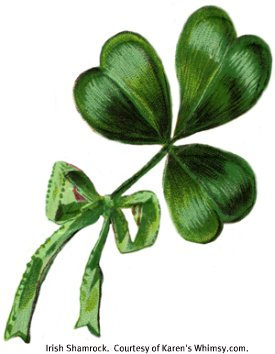 Irish Shamrock.  Courtesy of Karen's Whimsy.com