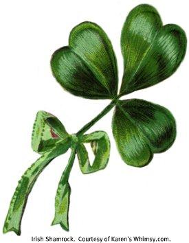 Irish Shamrock.  Courtesy of Karen's Whimsy.com