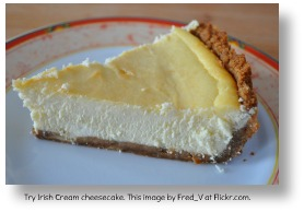 Irish cream cheescake.  Image by Fred_V.  Flickr.com