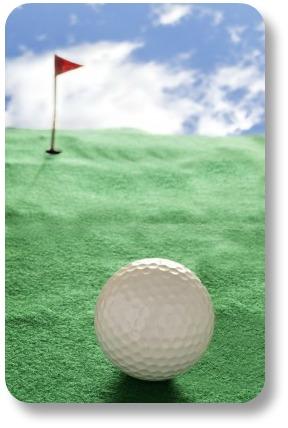 Irish Golf Jokes - Ball and Fake Green