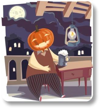 Irish Halloween: A Jack-O-Lantern with a Pint!