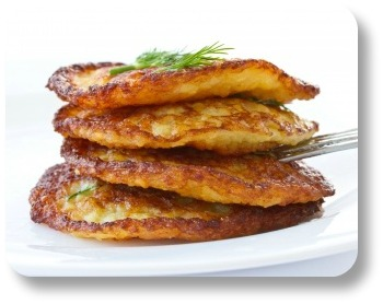 Irish potato pancakes. The best use of leftover mashed potatoes!