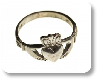 Irish wedding bands.  Claddagh design.