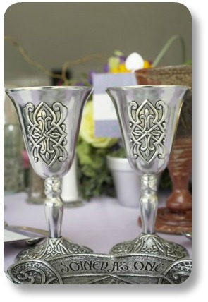 Irish wedding blessings.  Connected cups.