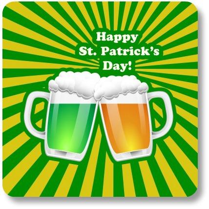 St Patricks Day Drinks. Toasting mugs!