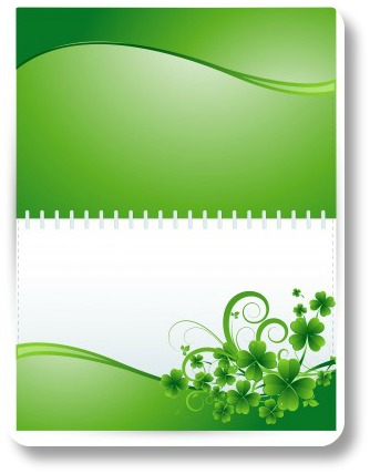 An idea for St Patrick Day crafts.  Irish greeting cards!
