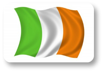 Irish symbols. The Tricolor Flag.