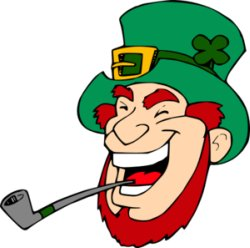 Irish Sayings.  Laughing Leprechan!