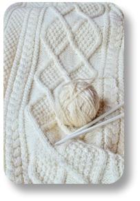 Aran Sweater.  Irish cable knitting pattern.