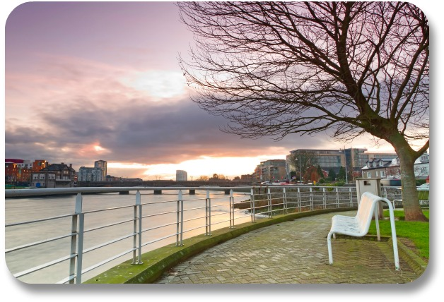Shannon Ireland Travel - Bench on Shannon River