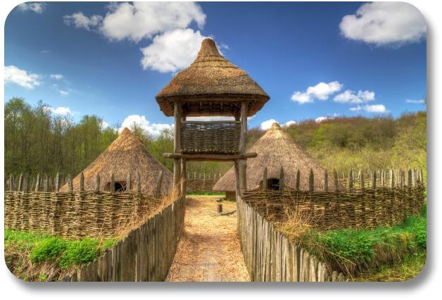 Shannon Ireland Travel - Gate to Iron Age Settlement in Craggaunowen