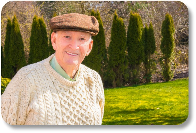 Irish Wool Sweaters - Smiling Man in Sweater and Cap